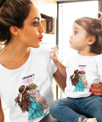 Дамска тениска и детска комплект